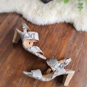 Lucky Brand • Patie Heeled Snakeskin Sandals